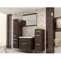 Evolet modern fürdőszoba bútor - wenge/ wenge